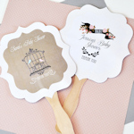 Personalized Vintage Baby Paddle Fans