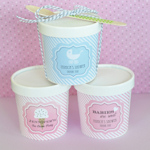 'Babies are Sweet' Mini Ice Cream Containers