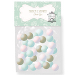 Birdcage Party Personalized Candy Bag Toppers