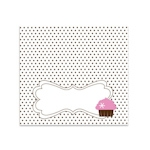 Cupcake Party Menu Cards/Place Cards (Set of 6)