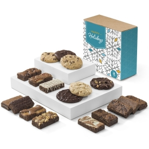 Holiday Brownie & Cookie Combo Gift Box imagerjs