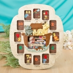 Stunning Noah's Ark Baby's First Year Collage Frame