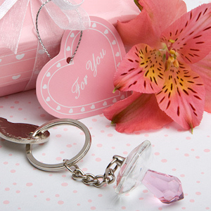 Choice Crystal Pink Pacifier Key Chain imagerjs