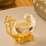 Choice Crystal Gold Baby Carriage Favors