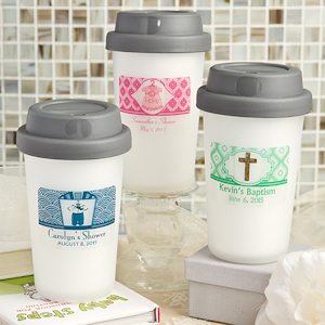 Personalized Travel Coffee Cup Baby Favors imagerjs