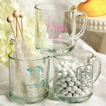 Personalized Glass Mug - Baby Shower Favor