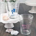 Personalized Baby Shower Glass Party Cup Favors