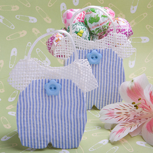 Blue and White Striped Baby Jumper Favor Bags imagerjs