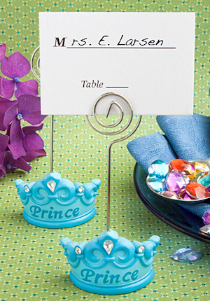 Blue Crown 'Prince' Place Card Holders imagerjs