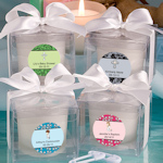 Personalized Christening Candle Favors