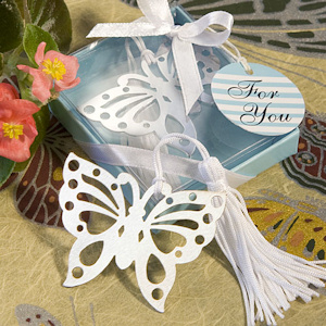 Gift Boxed Silver Butterfly Bookmarks imagerjs