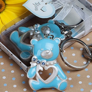 Blue Teddy Bear Keychain Favors imagerjs