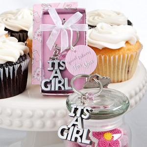 It's a Girl Keychain Favors imagerjs
