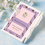Personalized Christening Notebook Favors