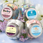 Baby Shower Personalized Glass Jar Favors