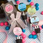 Personalized Baby Shower Wine Bottle Stopper Favors