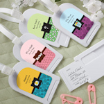 Personalized Baby Luggage Tag Favors