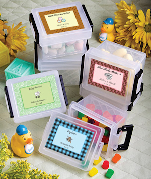 Personalized Baby Locking Lid Mini Containers imagerjs