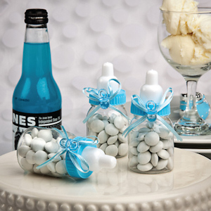 Perfectly Plain Collection Blue Baby Bottle Favors imagerjs