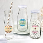 Design Your Own Baby Themed Vintage Style Milk Bottles