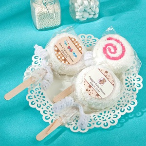 Personalized Baby Themed Towel Lollipop Favors imagerjs