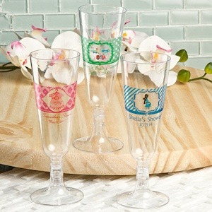 Baby Shower Personalized Acrylic Champagne Flutes imagerjs