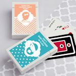 Simply Stylish Baby Shower Personalized Playing Cards