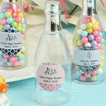 Personalized Champagne Bottle Baby Themed Box Favors
