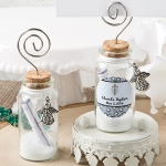 Personalized Baptism Wishing Jar Photo Holder Favor