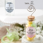 Personalized Glass Jar Place Card Holder Baby Shower Favors
