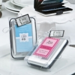 Personalized Aluminum Wallet Baby Shower Favor