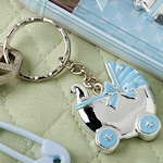 Blue Baby Carriage Keychain Favors