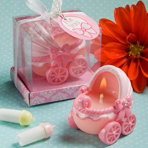 Pretty in Pink Carriage Candle Favors imagerjs