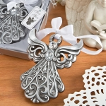 Antique Finish Silver Angel Ornament Favors