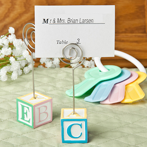 Adorable Alphabet Block Place Card Holders imagerjs