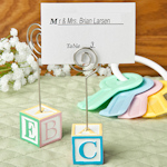 Adorable Alphabet Block Place Card Holders