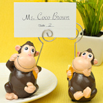 Ceramic Monkey Place Card Holders