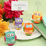 Ceramic Owl Place Card Holders