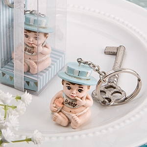 Vintage Baby Boy Key Ring Baby Shower Favors imagerjs
