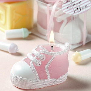 Pink Baby Sneaker Candle Favors imagerjs