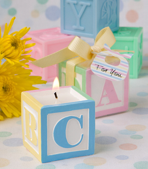 Baby Block Scented Candle Favors imagerjs