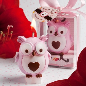 Adorable Pink Owl Candles imagerjs
