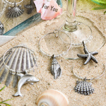 Gift Boxed Ocean Critter Wine Charms (Set of 4)