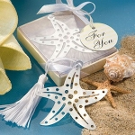 Ocean Starfish Bookmark Baby Shower Favors