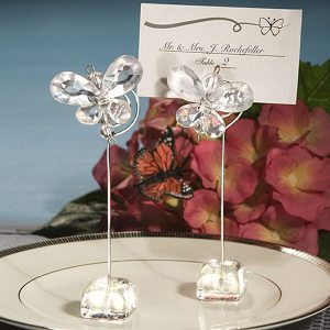 Crystal Butterfly Place Card Holders - Clear imagerjs