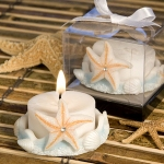 Starfish Design Baby Shower Candle Favor