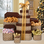 Holiday Wishes Gourmet Food Gift Tower