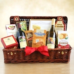 Wine Country Holiday Picnic Hamper Basket