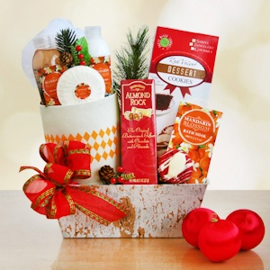 Mandarin Blossom Holiday Spa Gift Basket imagerjs