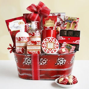 Peppermint Frost Holiday Spa Basket imagerjs